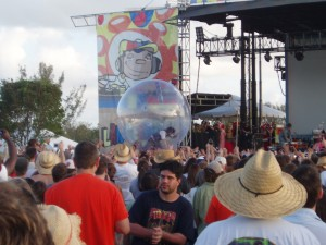 Wayne Coyne in the space bubble - Langerado 2006 (I think, I can't remember)