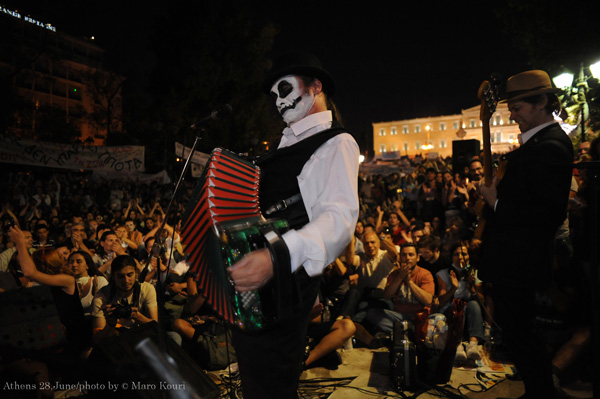 The Tiger Lillies Play Greek Parliament During Protests