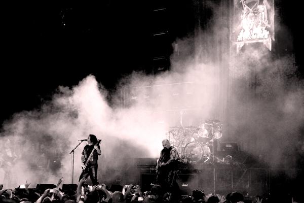 Tom Araya and Kerry King of Slayer in Atlanta
