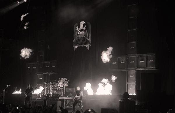 Slayer on stage at Mayhem Fest in Atlanta, GA